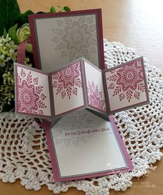 Wintermedaillons, Hochzeit, Anleitung, Pop-up-Karte, scraphexe.de