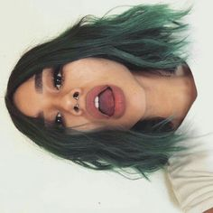 Piercing septum girl faces ideas for 2019 Hair Dye Colors, Cool Hair Color, Ombre Hair, Pink Hair, Hair Inspo, Hair Inspiration, Aesthetic Hair, Dye My Hair, Dying Your Hair