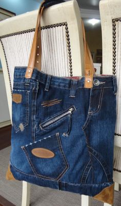 beautiful way of recycle jeans