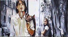 """http://piziarte.net/  Opera #disponibile presente NEL #MAGAZZINO_DI_PIZIARTE #GISELLA_SPINELLA """"Colpo di fulmine"""" olio su tela cm. 80 x 120, 2003"""
