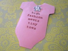 Cathie Filian: Snapsuit Decorating Baby Shower: Handmade Invitations