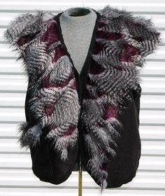 Mens 2XL Feather Faux Fur Festival Vest by OLearStudios on Etsy, $98.00