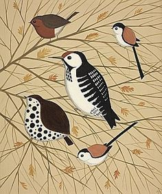 Birds in Branches  by Catriona Hall
