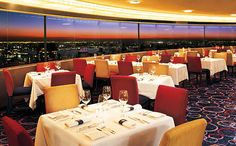 Have a drink in New York's only revolving Roof Top Restaurant- Marriott Marquis Aug 2014