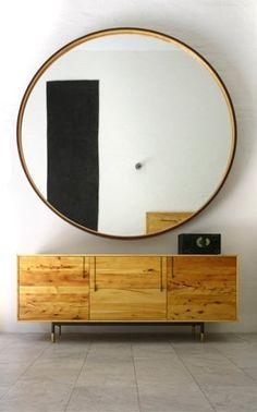 Incredible! huge round mirror. love it.