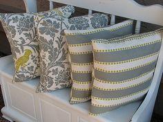 Decorative Pillows grey Throw Pillows Two SETS barber by beckorama, $48.00