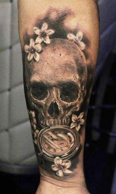 Tattoo Artist - Anabi Tattoo | www.worldtattoogallery.com/skull-tattoo