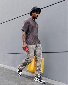 Black Men Street Fashion, Mens Fashion, Tomboy Swag, Jordan Outfits, Urban Street Style, Mode Streetwear, Summer Outfits, Street Wear, Men Hair