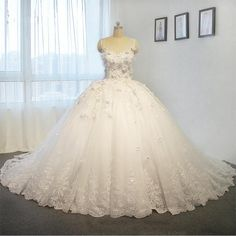 2016 wedding dress princess puffy wedding dress ball