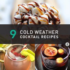 9 Winter-Warming Cocktail Recipes #recipes #drinks #holidays