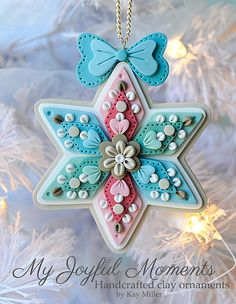 All these ornaments make my heart sing for joy! Handcrafted Polymer Clay Ornament by Kay Miller on Etsy