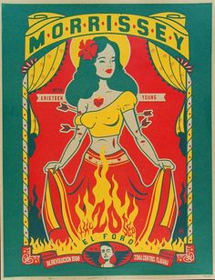 Scrojo Morrissey Tijuana Poster - I don't know if Morrissey actually played Tijuana, but I love the rockabilly look...