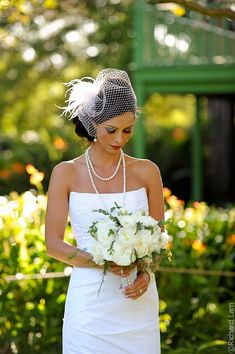 bride- modern gatsby + floral ensemble
