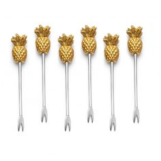 Pineapple Cocktail Picks >> for the Hostess with the MOSTess