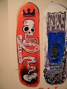 Skateboard Mural by Ginny Keegan