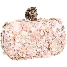 Alexander McQueen Box Clutch Jacquard RTW ($2,795) ❤ liked on Polyvore