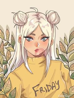 15 new ideas art girl drawing posts Cartoon Girl Drawing, Girl Cartoon, Cartoon Drawings, Anime Girl Drawings, Arte Do Kawaii, Kawaii Art, Pretty Art, Cute Art, Art And Illustration