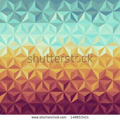Colorful vintage hipsters triangle seamless pattern illustration. Vector file layered for easy manipulation and custom coloring. - stock vector. Image ID: 148853411 Copyright: Cienpies Design