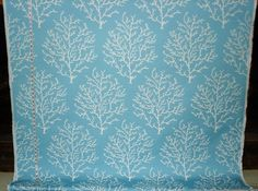 Coral fabric pool blue upholstery crackle turquoise aqua from Brick House Fabric: Novelty Fabric