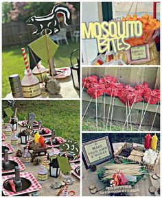 Camping themed birthday party via Kara's Party Ideas KarasPartyIdeas.com The Place for All Things Party! #campingparty (2)