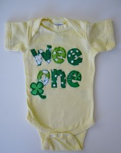 Baby's First St Patrick's Day Yellow and Green by TokenBlonde