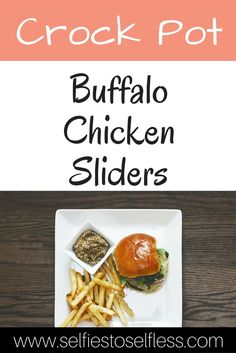 These chicken sliders pack a punch! This crock pot recipe is so easy and can be adapted to make for a crowd! Perfect for your next party!