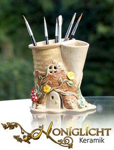 Stifteständer Utensilo aus Keramik von Honiglicht auf DaWanda.com
