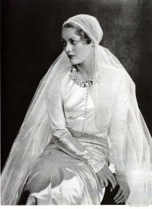 Chanel wedding gown 1932-1933 Source Carbonated Allison Marchant via Flickr w Creative Commons License