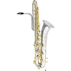 Oleg Maestro Bass Saxophone Silver Plated with Gold Keys Bass Saxophone, Saxophones, Music Stuff, Art Forms, Acoustic, Horns, Geometry, Silver Plate, Instruments