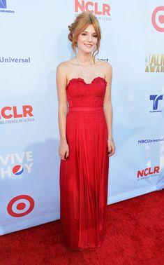 bella thorne in red  | Bella Thorne in Ruched Red - Best & Worst Dressed - 2012 NCLR ALMA ...