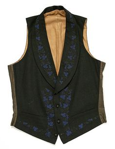 Waistcoat Date: early 19th century Culture: British Medium: wool, silk Dimensions: Length: 21 x 33 1/4 in. (53.3 x 84.5 cm) Accession Number: 24.160.5 Metropolitan Museum of Art