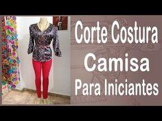 Curso Corte e Costura passo-a-passo Camisa Feminina para Iniciantes - Super Fácil - YouTube