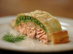 --Salmon en Croute...or Salmon in Puff Pastry. I made this for dinner tonight!! It was a hit, even with the kids!!