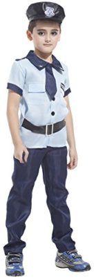 Kids Police Role Play Child Boys Patrol Uniform Dress Up Cosplay Costumes