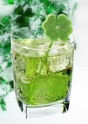 Recipes for Four Green Cocktails for St. Patric's Day.