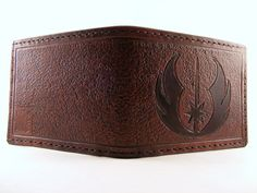 Jedi Star Wars Hand Tooled Leather Wallet