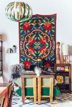 Boho Studio.Trabajando en un espacio plagado de color (via Bloglovin.com )