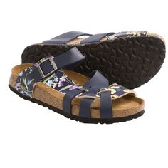 Papillio by Birkenstock Pisa Sandals - Birko-flor® Simply Flowers, Soft Footbed (For Women) in Blue these are really pretty. ;-)