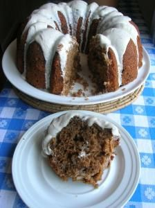 COCONUT SPICE CAKE WITH NUTMEG RUM FROSTING