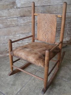 vintage child's rocking chair on etsy/highpointfarm2010, via kickcan & conkers