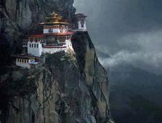 Incredible Tigers Nest Monastery in Paro Valley, Bhutan.