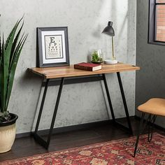 New Walker Edison Furniture Company Rustic Farmhouse Metal Wood Laptop Computer Writing Desk Home Office Workstation Small, 42 Inch, Walnut Brown online - Melyssanicefashion Furniture, Home Office Furniture, Interior, Farmhouse Decor, Wood Desk, Doors Interior, Wood And Metal Desk, Walker Edison Furniture, Desk