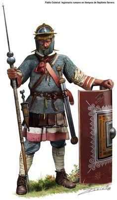 Roman legionnaire in the time of Septimus Severus
