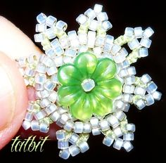 TATtle TALES Tatting Patterns: Rosetted Eye Candy: Beading Needle Vile - All design, tatting, beading by Teri Dusenbury.