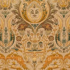 ANICHINI Fabrics   Charlemagne Residential Fabric - a neutral Italian tapestry fabric