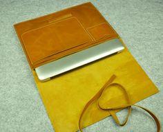 Cuir Leather Sleeve Macbook Pro étui de rétine 15 par ZzzSun