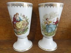 Vintage French Ceramic Porcelain Tankard Goblet Lovers Cup Drink Vessel Romantic Gift Love Loving Romance circa 1970-80's Purchase in store here http://www.europeanvintageemporium.com/product/vintage-french-ceramic-porcelain-tankard-goblet-lovers-cup-drink-vessel-romantic-gift-love-loving-romance-circa-1970-80s-2/
