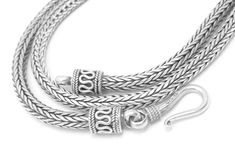 """Artisan Crafted Sterling Silver 22"""" Tulang Naga Necklace @dianesdangles"""