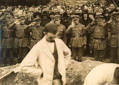 Fellow Officers of the Free State Army Salute at the Burial of their Commander in Chief  Michael Collins in Glasnevin cemetery