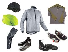 Cold weather cycling gear.